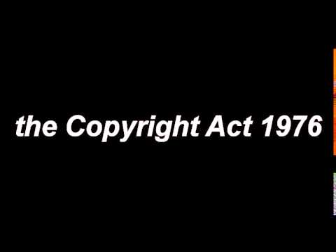 The copyRight Act 1976