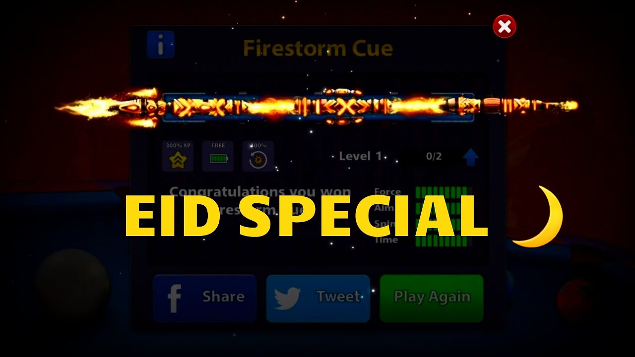 8 ball pool firestorm cue