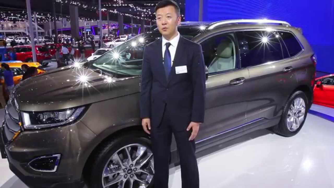Auto Shanghai 2015 Faurecia Equips The Ford Edge 7 Seats For China