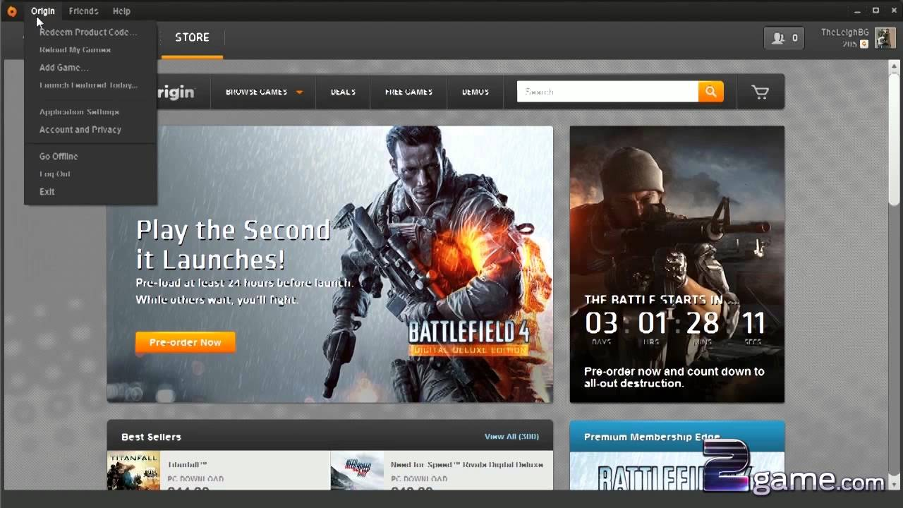 How to... Redeem a code on Origin (2game.com) - YouTube