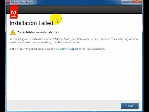Khắc phục lỗi cài đặt Photoshop Cs6 Installation Failed