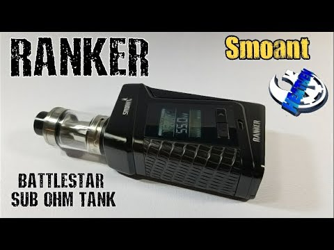 Smoant Ranker 218w Box mod and Battlestar Sub Tank *Cylon's Trigger Happy Big Brother