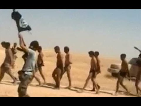 Islamic State militants march Syrian soldiers in their underwear 'to execution'