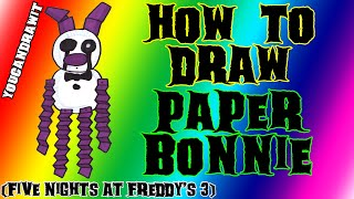 How To Draw Paper Bonnie from Five Nights At Freddy