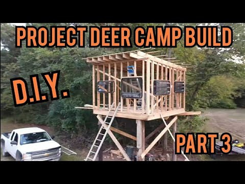 #DIY Series: How To Build A Deer Blind Part 3 - Low Cost Homemade Deer Blind/Camp Build Day 6!!