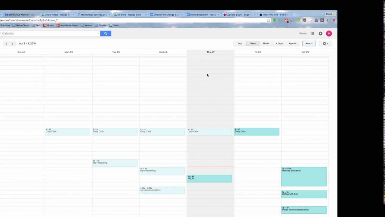 How To Print Your Google Calendar Youtube