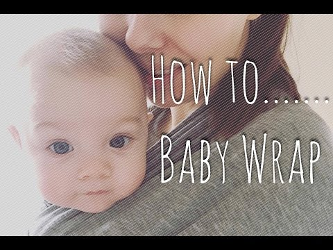 ❤️ How To... Basic Classic Carry Little Munchkins Baby Wrap ❤️ Tutorial Technique Front + Back Carry