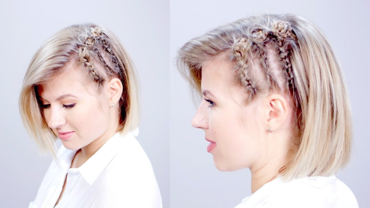 Hairstyle Of The Day Edgy Short Hairstyle With Braids Milabu