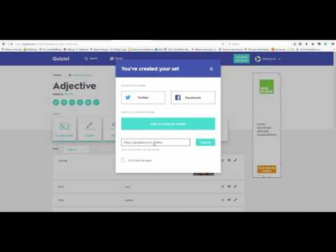 Creating Flash Cards With Quizlet
