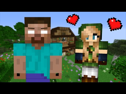 Thumbnail: If a Girl fell in Love with Herobrine - Minecraft
