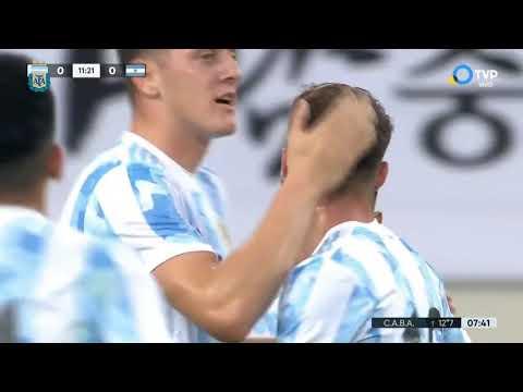 Selección Olímpica: compacto del amistoso República de Corea 2 - Argentina 2