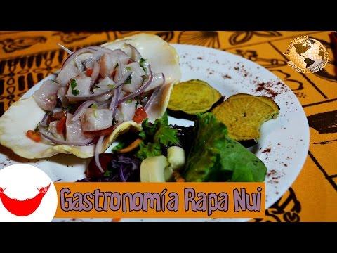 Isla de Pascua Videoguía, 23 Gastronomía Rapa Nui. Easter Island, Chile 2015