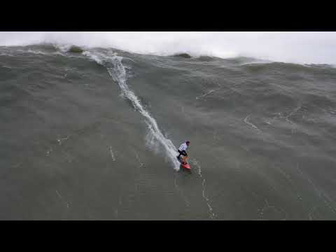 Nazare Big Wave Surfing from drone November 12, 2019 4k