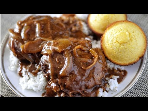 HOMESTYLE HAMBURGER STEAK AND ONION GRAVY RECIPE | EASY COOKING!