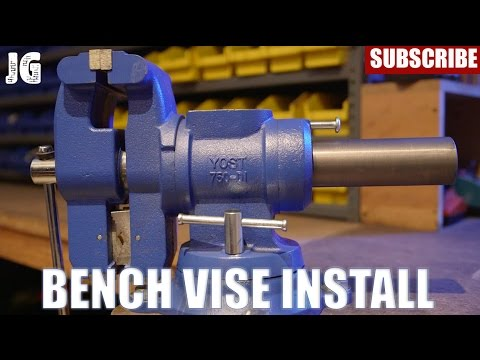 Yost Bench Vise Install Jimbos Garage Youtube