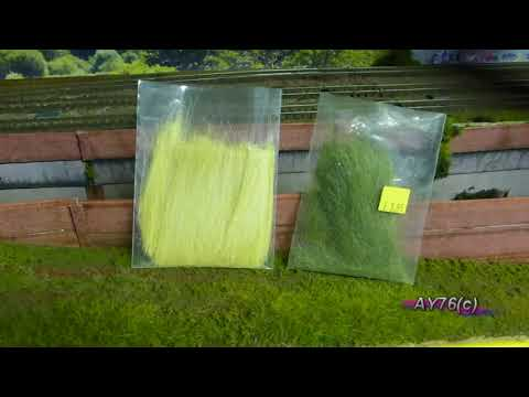 Building A Model Railway – Scenics (Adding grass cover)