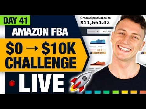 AMAZON FBA $10,000 CHALLENGE 🚀 (Day 41) Running Out Of Stock Too Quickly! (The Best FBA Problem)