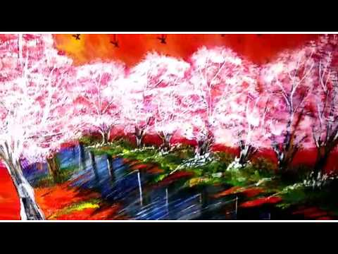 Nature painting on canvas|canvas painting for beginners by Home decor fine art