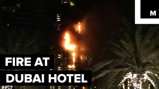 63-Story Address Hotel Bursts into Flames in Downtown Dubai