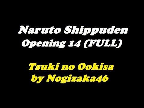 Naruto Shippuden Opening 14 Tsuki no Ookisa  Nogizaka46 Full Lyrics  TeaLoad