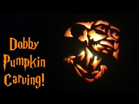 dobby pumpkin carving harry potter youtube dobby pumpkin carving harry potter