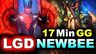 LGD vs NEWBEE - 17 Min GG! - CHINA PRO LEAGUE DOTA 2