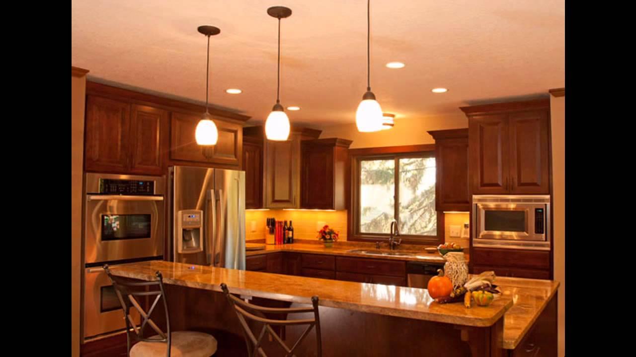 cool kitchen recessed lighting design