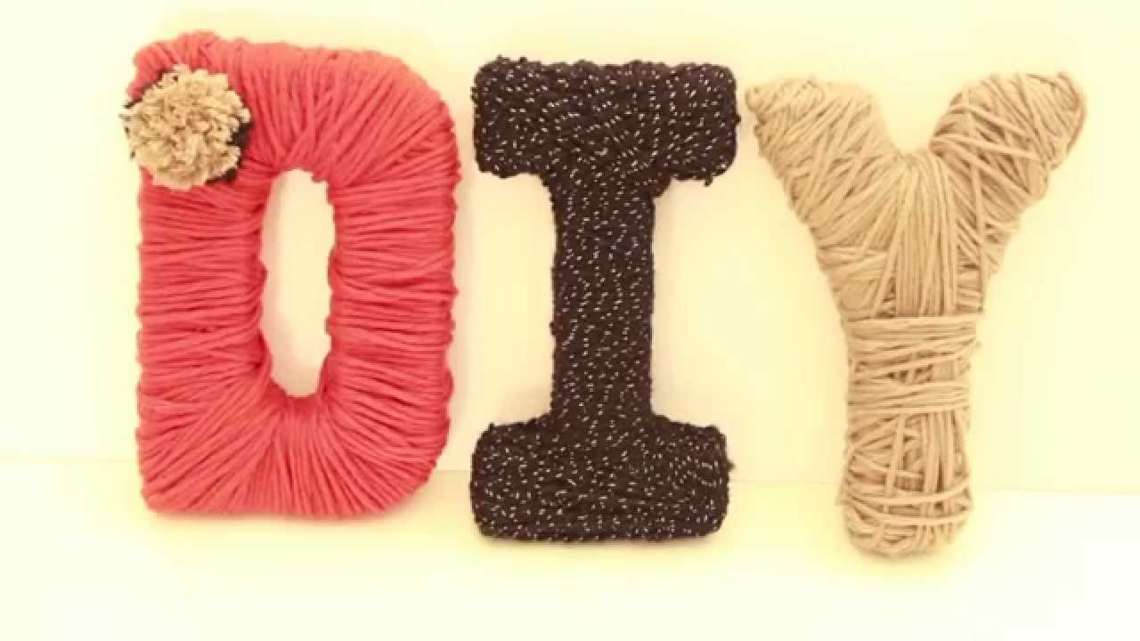 diy déco : des mots en laine - truffaut jardinerie tv - youtube