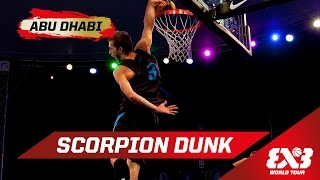 Scorpion Dunk BEHIND THE BACK! - Dunk Contest - Abu Dhabi - 2015 FIBA 3x3 World Tour Final