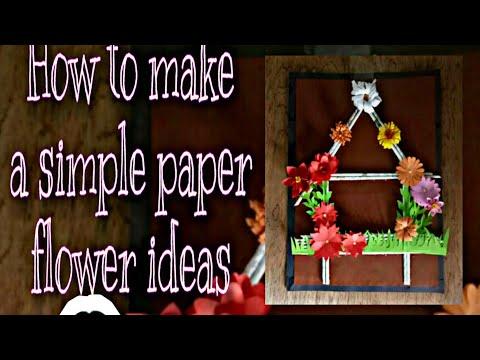 7 paper flower's/ paper flower's frame