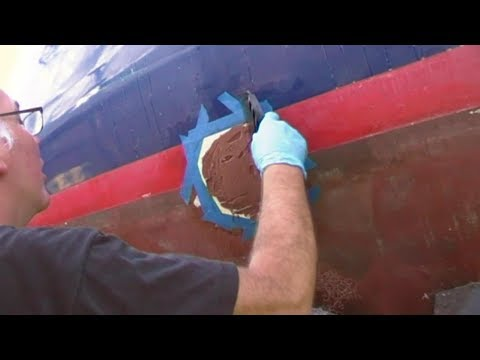 Just About Sailing August 2 2017 - Removing thru-hulls and glassing over the resulting holes