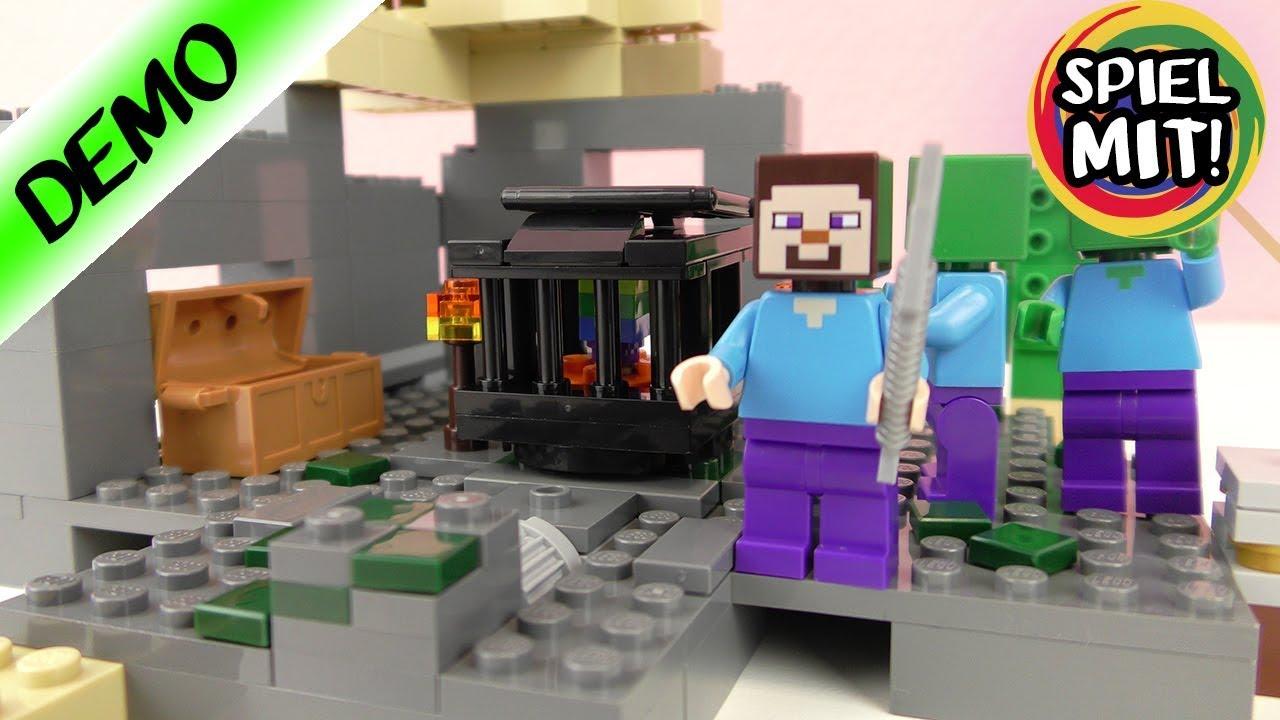 LEGO Minecraft DAS VERLIES Aufbauen Demo Deutsch Steve Vs Zombies - Lego minecraft spiele deutsch