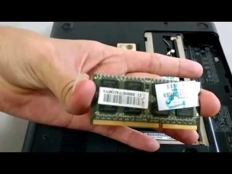 Destapado e Instalación de 2 Memorias DDR3 de 4gb de 1333 en un Portatil HP g42 - 372LA