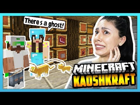 THERE'S A GHOST IN MY HOUSE! - Minecraft Survival Lets Play: KaoshKraft SMP 3 - EP 93