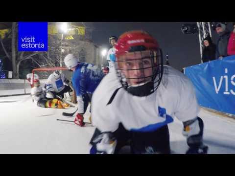 Skateboard vs BMX - hockey battle by Visit Estonia