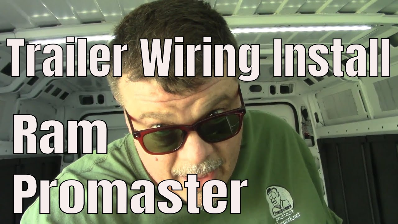 Airline Wire Harness How To Install Trailer Wiring On Ram Promaster Youtube
