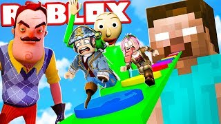 "RUN FROM SUPER CATTIVI ON ROBLOX! ""OBBY"""