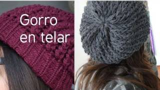 Repeat youtube video Como hacer gorro-boina en telar circular