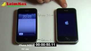 видео iPhone 3Gs vs iPhone 4 сравнительный тест