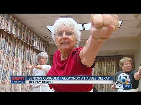 Seniors conquer Taekwondo at Abbey Delray