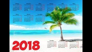 Шаблон календаря PSD для фотошопа