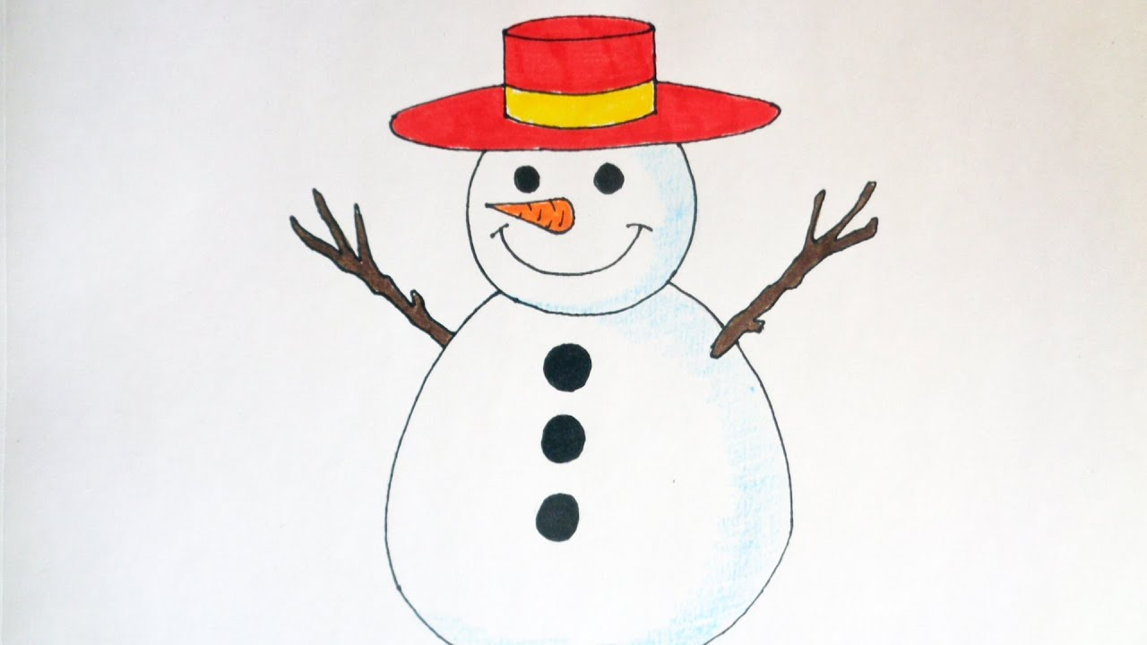 Uncategorized Drawing Of A Snowman how to draw a snowman christmas stuff pictures youtube