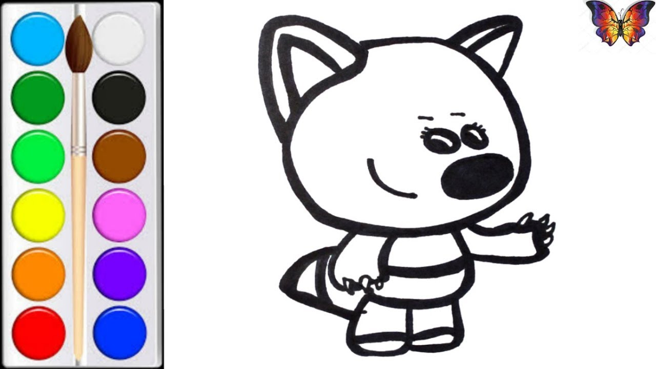 Раскраска для детей ЛИСИЧКА из мультика МИМИМИШКИ ...