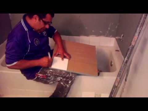 Como instalar ceramica en un bano parte 1 youtube - Como disenar un bano ...