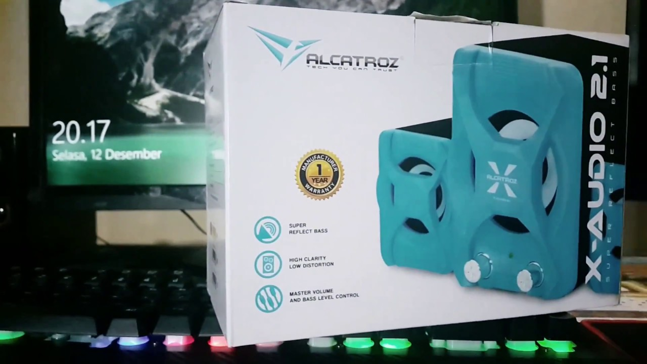 Unboxing & Audio Test Speaker Alcatroz X-Audio | Super Bass Reflect