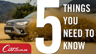 2016 Toyota Hilux - 5 Things You Need To Know