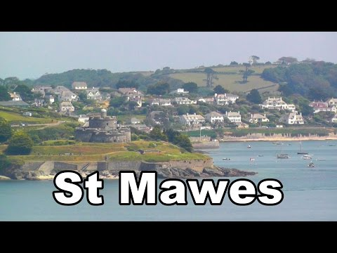 St Mawes In Cornwall England From Pendennis Castle Falmouth On A Perfect Day