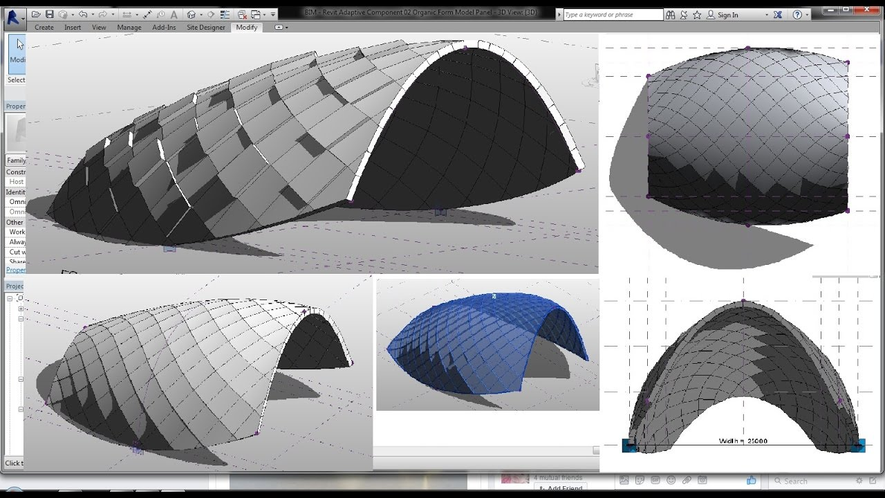 Bim Revit Adaptive Component 02 Organic Form Modeling
