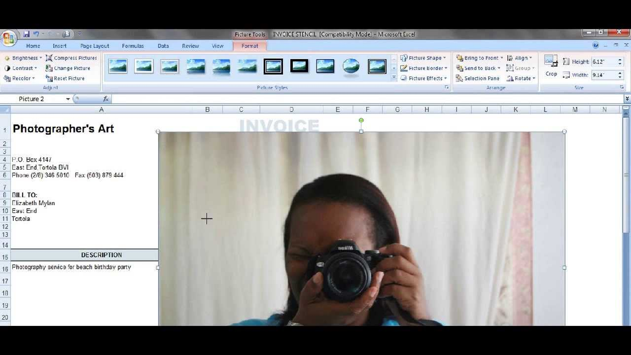 How To Create Your Own Invoice | Microsoft Excel 2007   YouTube  Create Your Own Invoices