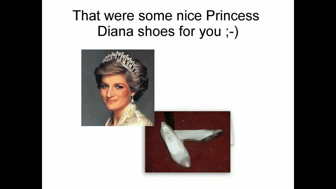 What Was Princess Diana Shoe Size